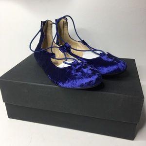 Yosi Samra Miss Shelly crushed velvet ballet flats